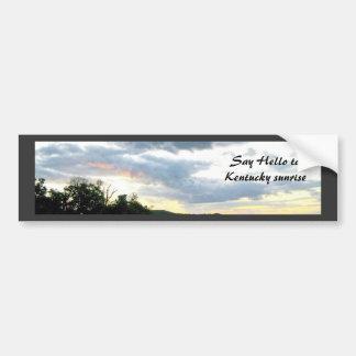 The Ohio River Valley Sunrise Bumper Sticker