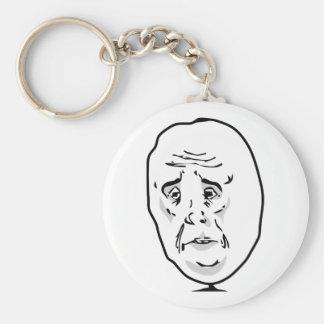 The Okay Guy Basic Round Button Keychain