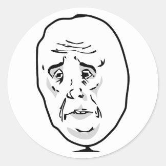 The Okay Guy Classic Round Sticker