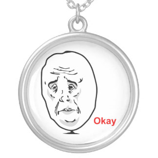 The Okay Guy Round Pendant Necklace