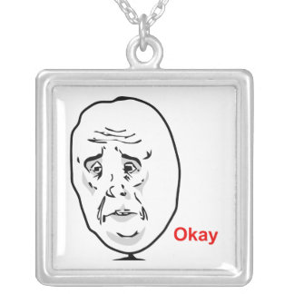 The Okay Guy Square Pendant Necklace