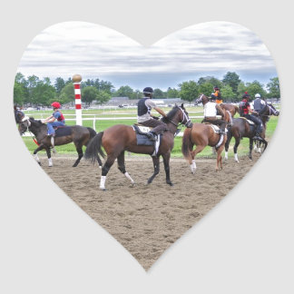 The Oklahoma Training Track at Saratoga Heart Sticker
