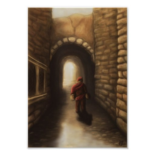 the old alley fantasy photo print