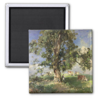 The Old Ash Tree (oil on canvas) 2 Inch Square Magnet
