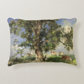 The Old Ash Tree (oil on canvas) Accent Pillow