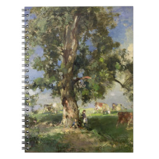 The Old Ash Tree (oil on canvas) Notebook