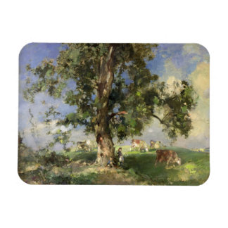 The Old Ash Tree (oil on canvas) Rectangular Photo Magnet