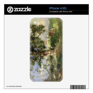 The Old Ash Tree (oil on canvas) Skins For iPhone 4