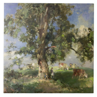 The Old Ash Tree (oil on canvas) Tile