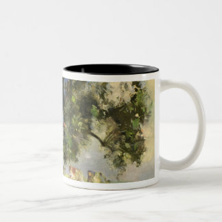 The Old Ash Tree (oil on canvas) Two-Tone Coffee Mug