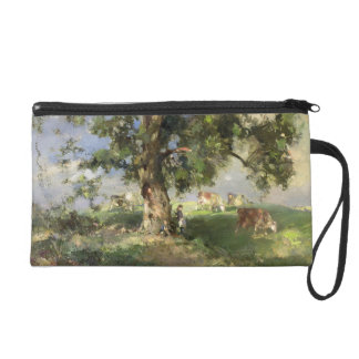 The Old Ash Tree (oil on canvas) Wristlet Purses