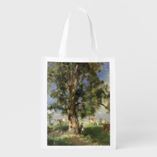 The Old Ash Tree (oil on canvas) Reusable Grocery Bag