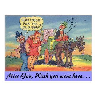 The old bag postcard