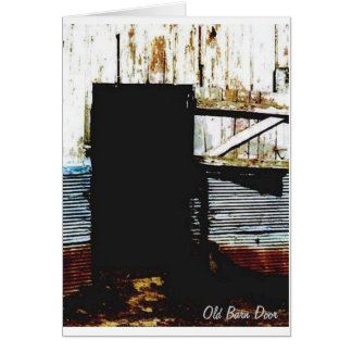 The Old Barn Door Card