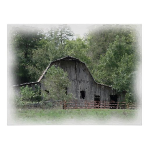 The Old Barn Print