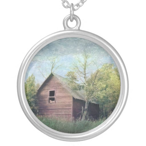 The Old Barn Round Pendant Necklace