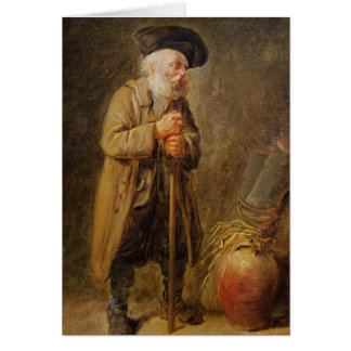 The Old Beggar Card