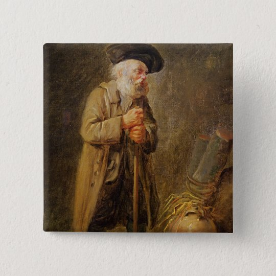 The Old Beggar Pinback Button