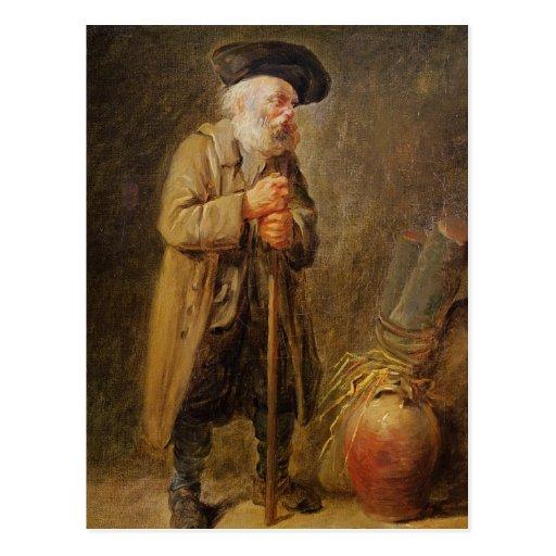 The Old Beggar Postcard