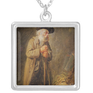 The Old Beggar Silver Plated Necklace