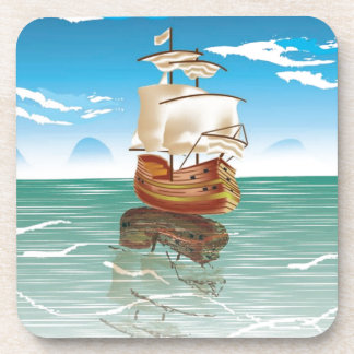 The old boat and the sea beverage coaster