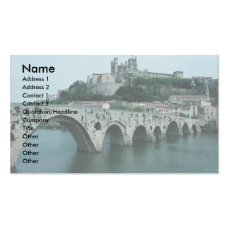 The Old Bridge, 13th century, Beziers, France Double-Sided Standard Business Cards (Pack Of 100)