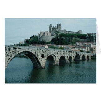 The Old Bridge, 13th century, Beziers, France Card