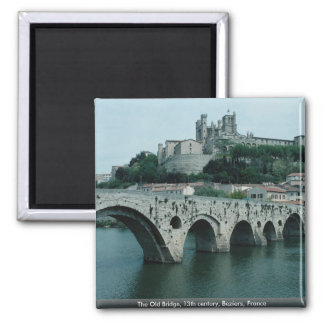 The Old Bridge, 13th century, Beziers, France Magnet