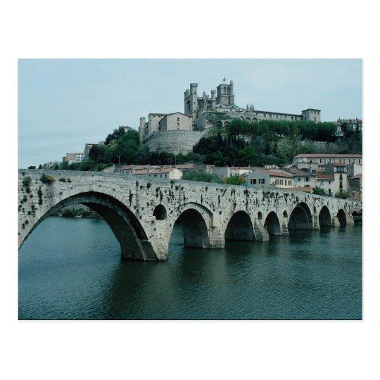 The Old Bridge, 13th century, Beziers, France Postcard