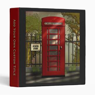 The Old British Red Telephone Box 3 Ring Binder