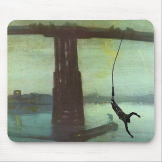 The Old Bungee Bridge Mousepad by Colin Carr-Nall