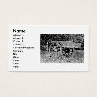 The old cart business card