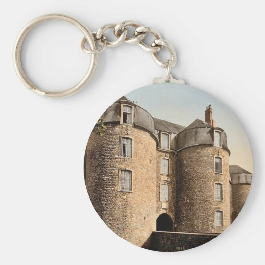 The old castle, Boulogne, France classic Photochro Keychain