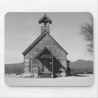 The Old church - black n white Mouse Pad