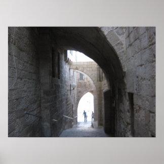 The old city Jerusalem Poster