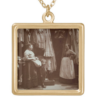 The Old Clothes Shop, Seven Dials, from 'Street Li Gold Plated Necklace
