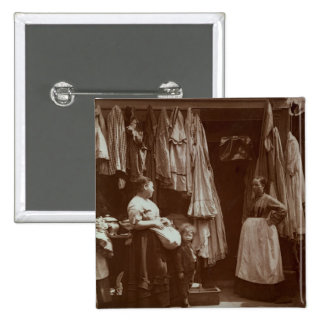 The Old Clothes Shop, Seven Dials, from 'Street Li Pinback Button