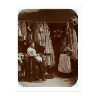 The Old Clothes Shop, Seven Dials, from 'Street Li Postcard
