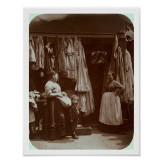 The Old Clothes Shop, Seven Dials, from 'Street Li Poster