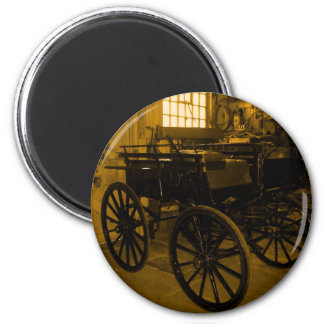 """""""The Old Coach Repair Workshop"""".* 2 Inch Round Magnet"""