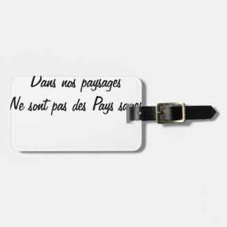The old countries in our landscapes are not luggage tag