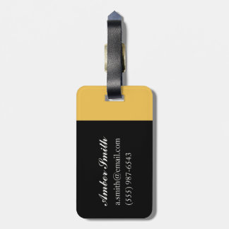 The Old Days Luggage Tag