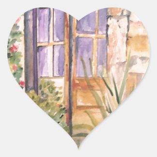 The old door heart sticker