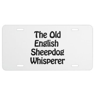 the old english sheepdog whisperer license plate