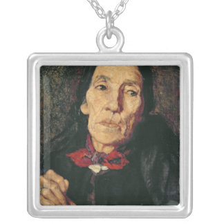 The Old Farmer, 1875 Silver Plated Necklace