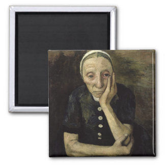 The Old Farmer, 1903 2 Inch Square Magnet