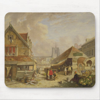 The Old Fishmarket, Norwich, 1825 (oil on panel) Mouse Pad