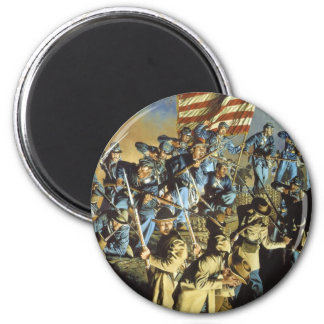 The Old Flag Never Touched the Ground 2 Inch Round Magnet
