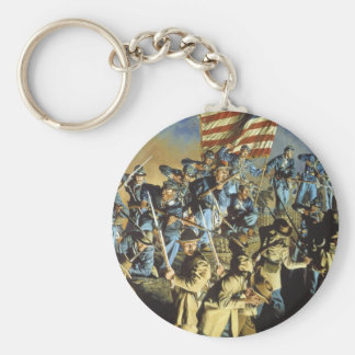 The Old Flag Never Touched the Ground Basic Round Button Keychain