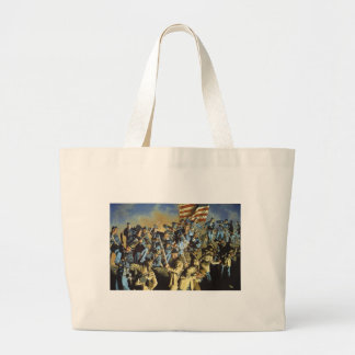 The Old Flag Never Touched the Ground Large Tote Bag